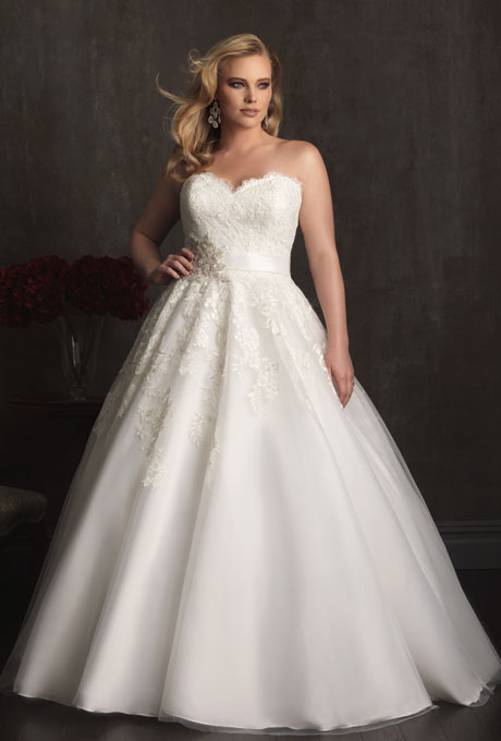 Photo: Courtesy of Allure Bridals    Style W282, tulle wedding dress, price upon request,  Allure Bridals     See more Allure Bridals wedding dresses.