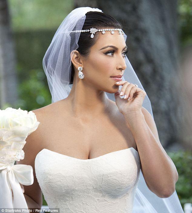 Celebrity Bridal Make Up Inspiration Kim Kardashian Bridal Hair