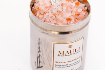 This exotic bath product refreshes jaded bodies by restoring natural PH levels. Exquisite Himalayan pink salts are at the heart of this product, blended with a range of quality oils to reenergise with a calming effect. The inclusion of powdered rose quartz crystals lend it its soothing quality and add an exotic and decadent ingredient to the mix. Indeed, its combination of aromatic infusions like jasmine, blood orange, and the earthy scent of sandalwood create a healing blend for mind and body. Purported to be effective for jetlag, take this with you on your honeymoon to combat the impact of travel fatigue.