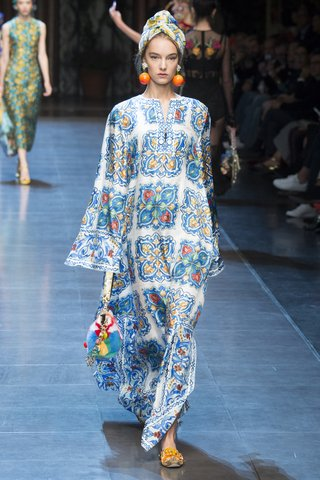 Dolce & Gabbana   A punchy, printed caftan delivers a contemporary take on Talitha Getty style.  Photo: Indigitalimages.com
