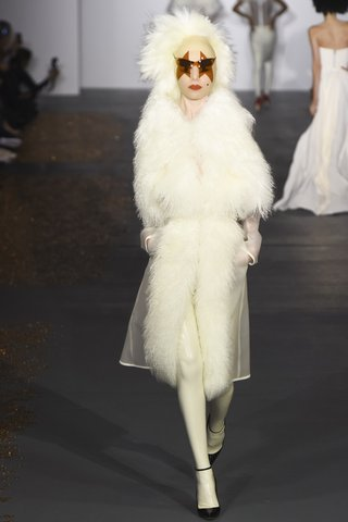 Gareth Pugh   Snow bunny bride goes Gaga.  Photo: Indigitalimages.com