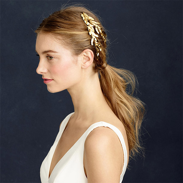 Jennifer Behr Eos Comb ($287.50,  jcrew.com )  If over-the-top glamour is your thing, it doesn't get much better than this stunning gold-leaf comb. Better still: It's classic enough to wear again and again, so it's a worthy investment that won't expire after your big day.