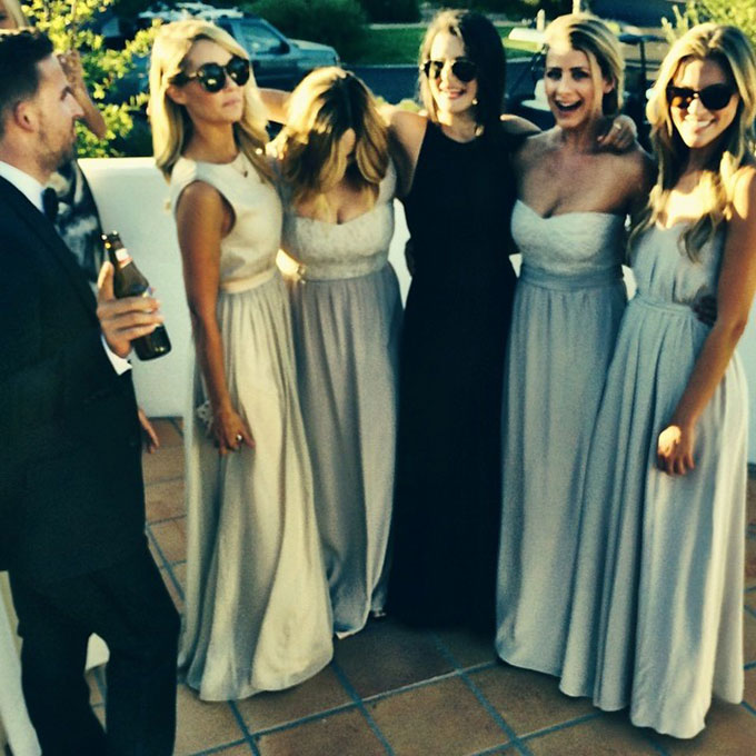 LC has her own line of bridesmaids dresses, so it's no surprise that she looked flawless in one of them at  her BFF (and Paper Crown co-founder) Maura McManus's wedding last summer .     Photo: Jilly Hendrix via  Instagram