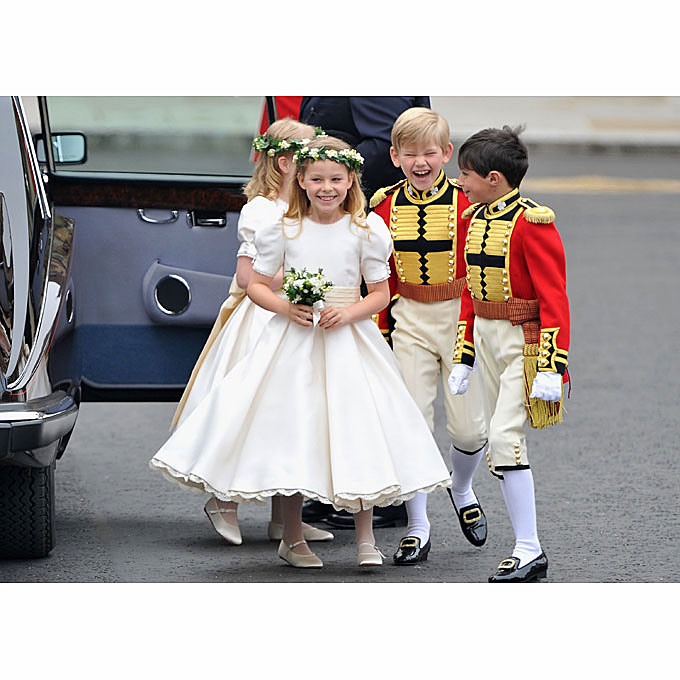 "Photo: Getty Images   The Kids  What happens when a future queen puts a posse of six kids in her bridal party? ""We've seen the number of children in the wedding increase from one or two to five or six,"" says Marg Hyland, founder of Pegeen, a children's-wear company. Adds Fiscus: ""One bride told us she didn't know any little kids, but she was going to find some to be in her wedding!""   Browse similar looks for your flower girls here."