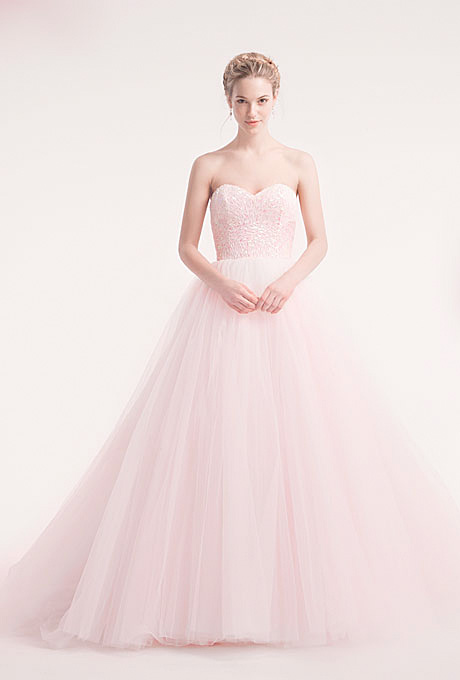 Alita Graham   Gown by  Alita Graham     Browse more pink wedding dresses.   Photo: Courtesy of Alita Graham