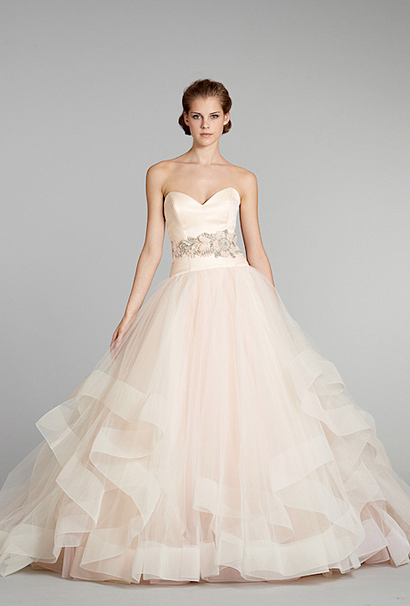Lazaro   Gown by  Lazaro     Browse more Lazaro wedding dresses.   Photo: Fairchild Archive
