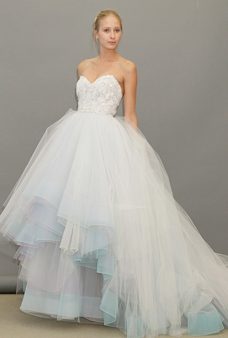 Lazaro   Gown by  Lazaro     Browse more Lazaro wedding dresses.   Photo: John Aquino