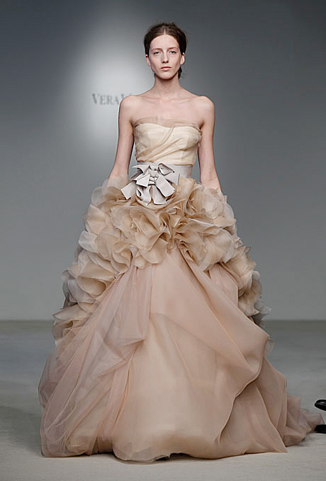 Vera Wang   Gown by  Vera Wang     Browse more Vera Wang wedding dresses.   Photo: John Aquino