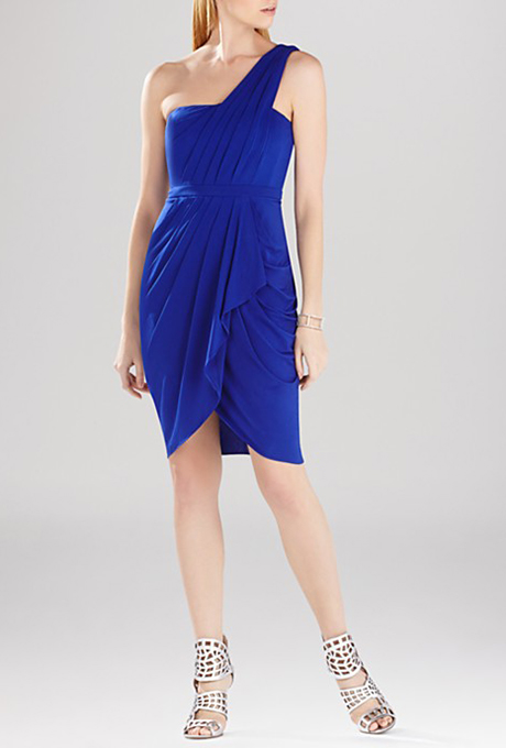 """Juliette,"" one-shoulder asymmetrical dress, $268, BCBGMAXAZRIA available at Bloomingdale's    Photo: Courtesy of Bloomingdale's"