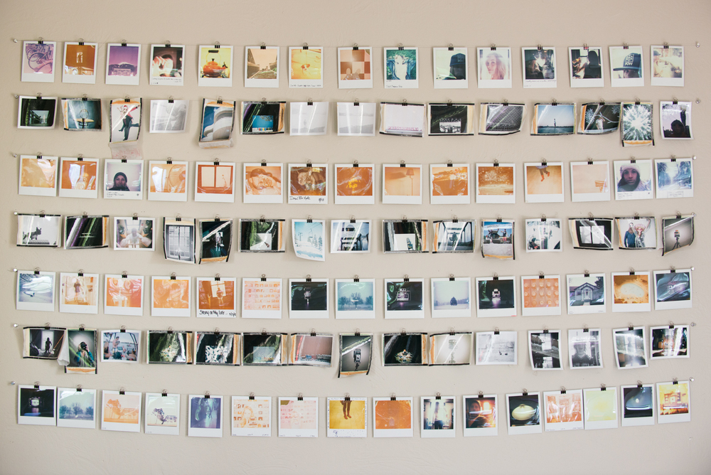 Diy Polaroid Grid Display Jon Paciaroni Colorado Based