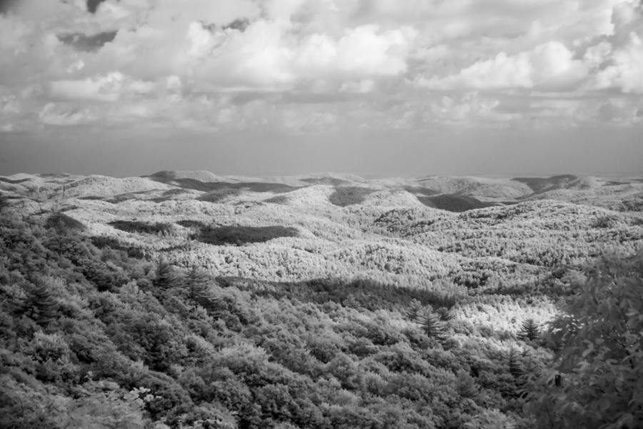 Blue Ridge Mountains in infrared.
