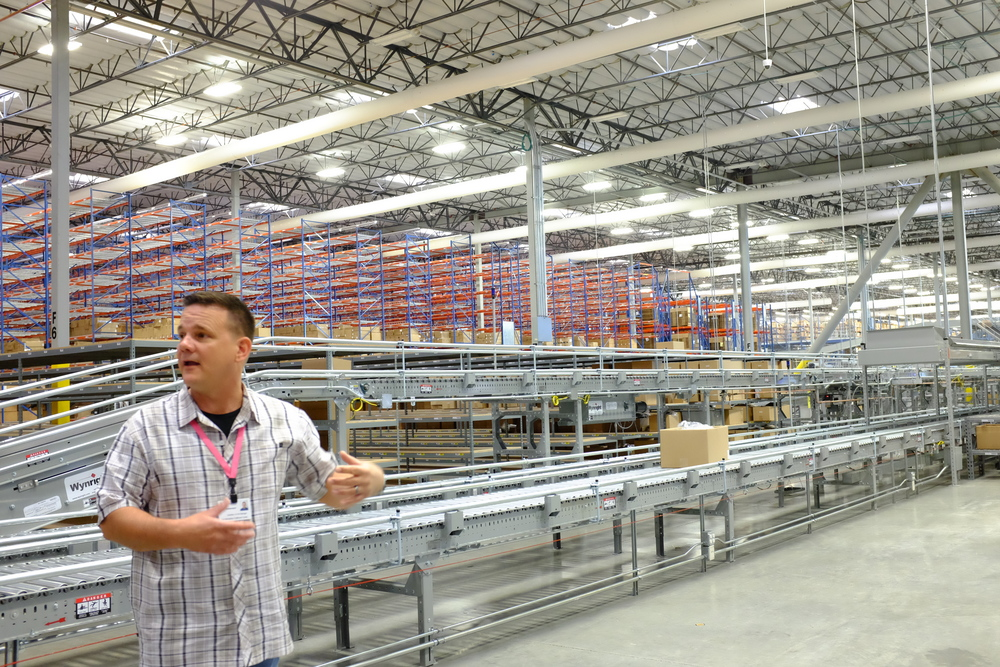 Mike tells us about the returns dept of the HauteLook fulfillment center.