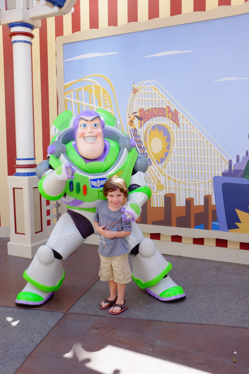 Saw Buzz Lightyear and Jack was excited to get a picture with him