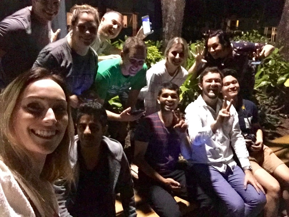 Group selfie with a bunch of random players on the streets of Cairns, Queensland on the night of Pokemon GO launch.