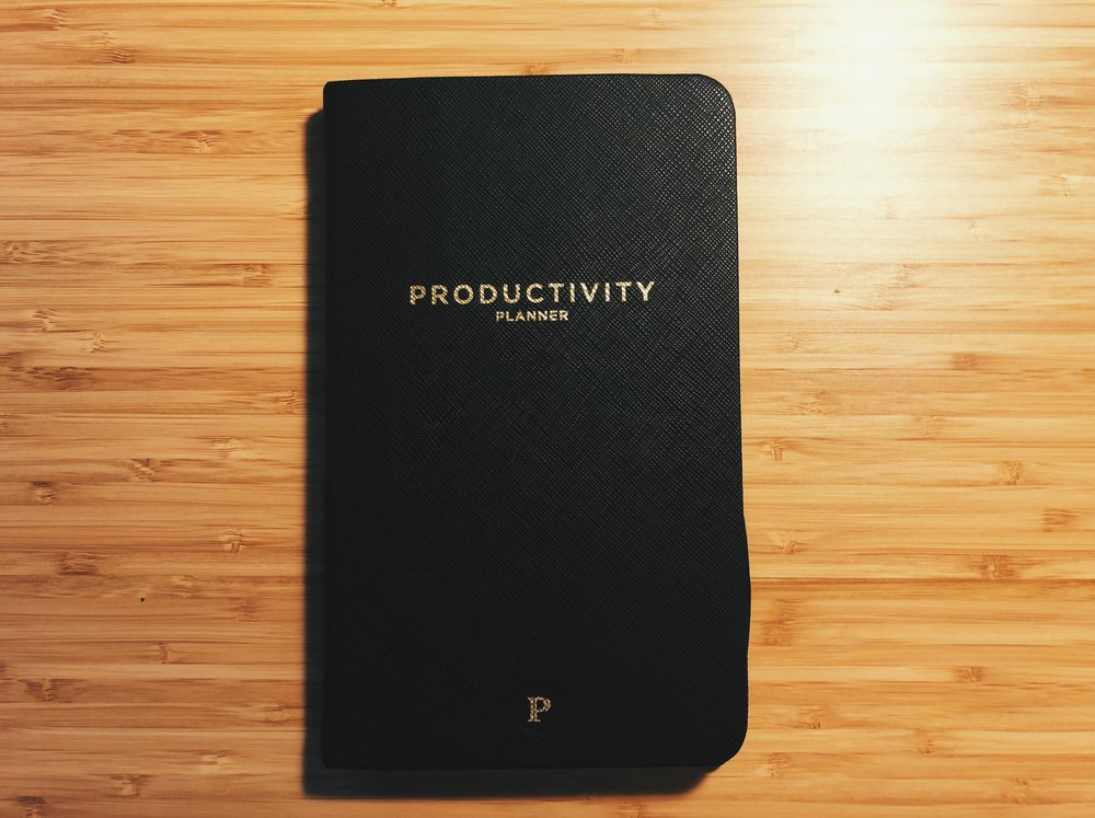 The Productivity Planner  I use to write my lists.