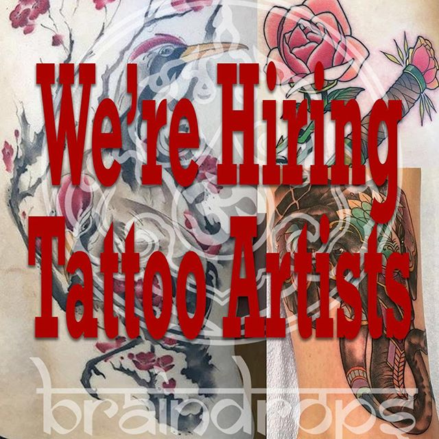 We are looking to add a couple of tattoo artists to our team at Braindrops. We are a busy shop in the heart of Haight/Ashbury in San Francisco, in a brand new, beautiful location. We have an established reputation in the city with a large tourist and local draw. We are looking for artists that want to make amazing tattoos and grow with a motivated artistic team. We supply most supplies and have a friendly front of house staff to support you.  Please email your resume and a link to your portfolio to Braindrops.sf@gmail.com . . . . . #braindrops #braindropssf #braindropstattoo #braindropslovesyou #braindropspiercing #sanfrancisco #tattooerswanted #tattooerwanted #haightashbury #sf #bayarea #tattoos #piercing