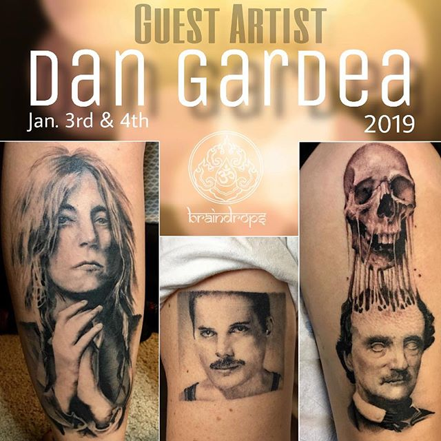 Guest Artist @bongmuscles will be tattooing at Braindrops January 3rd &4th, 2019!  For scheduling and appointments, please contact Dan directly at Dangardeatattoos@gmail.com. . . . . . #braindrops #braindropstattoo #tattoos #haightstreet #sanfrancisco #california #braindropssf #dangardea #dangardeatattoos