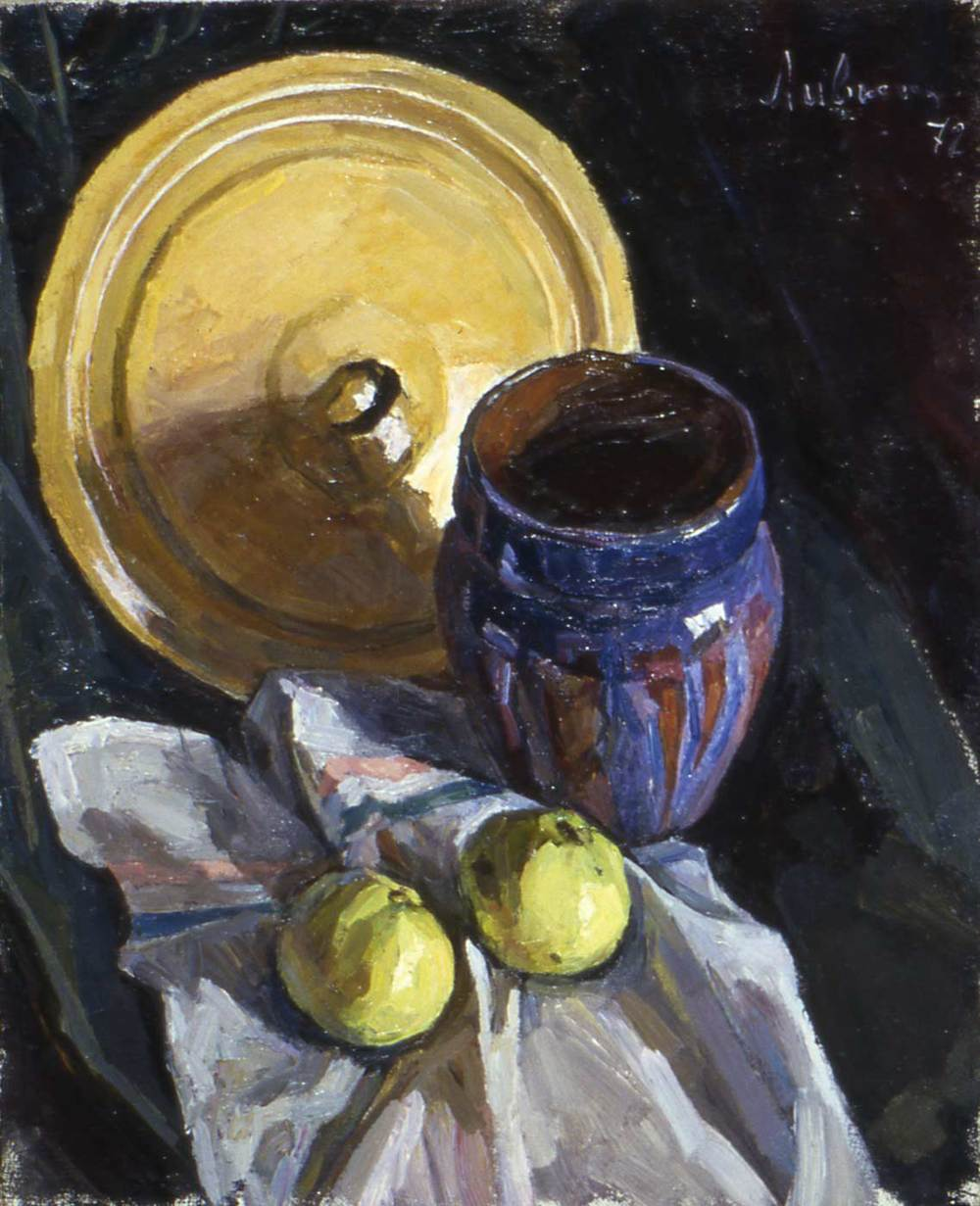 Still Life with Yellow Lid