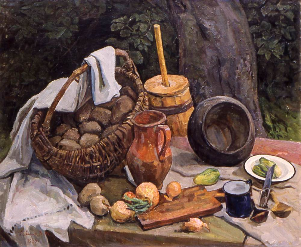 Still Life with Butter Churn