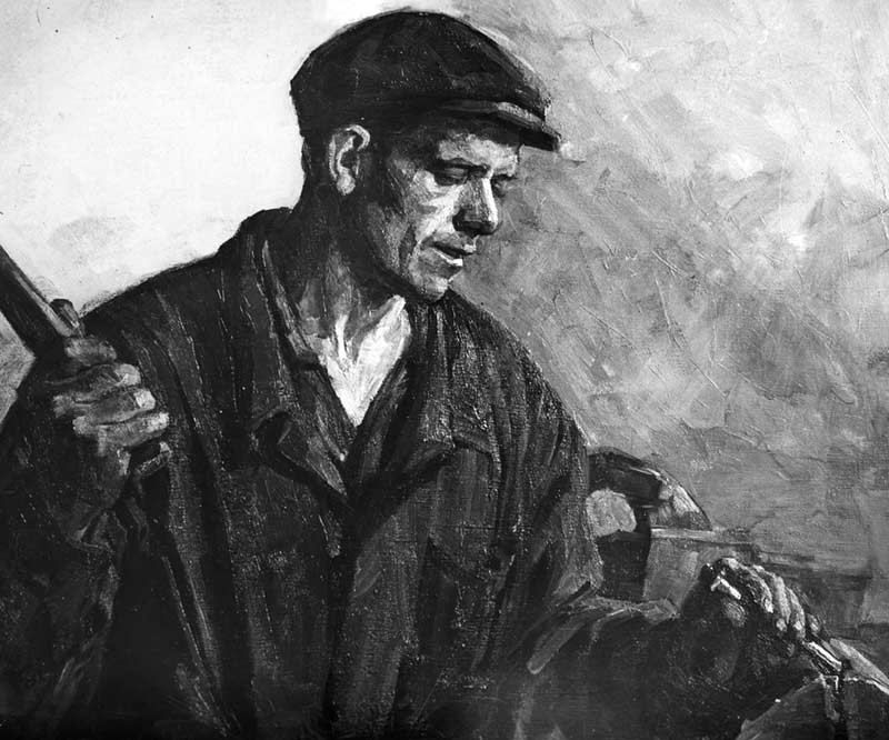 Portrait of metalworker V.P. Pankratovich
