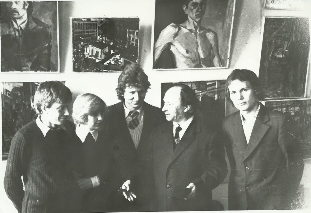 Chaim Livchitz with Students, Minsk, 1976