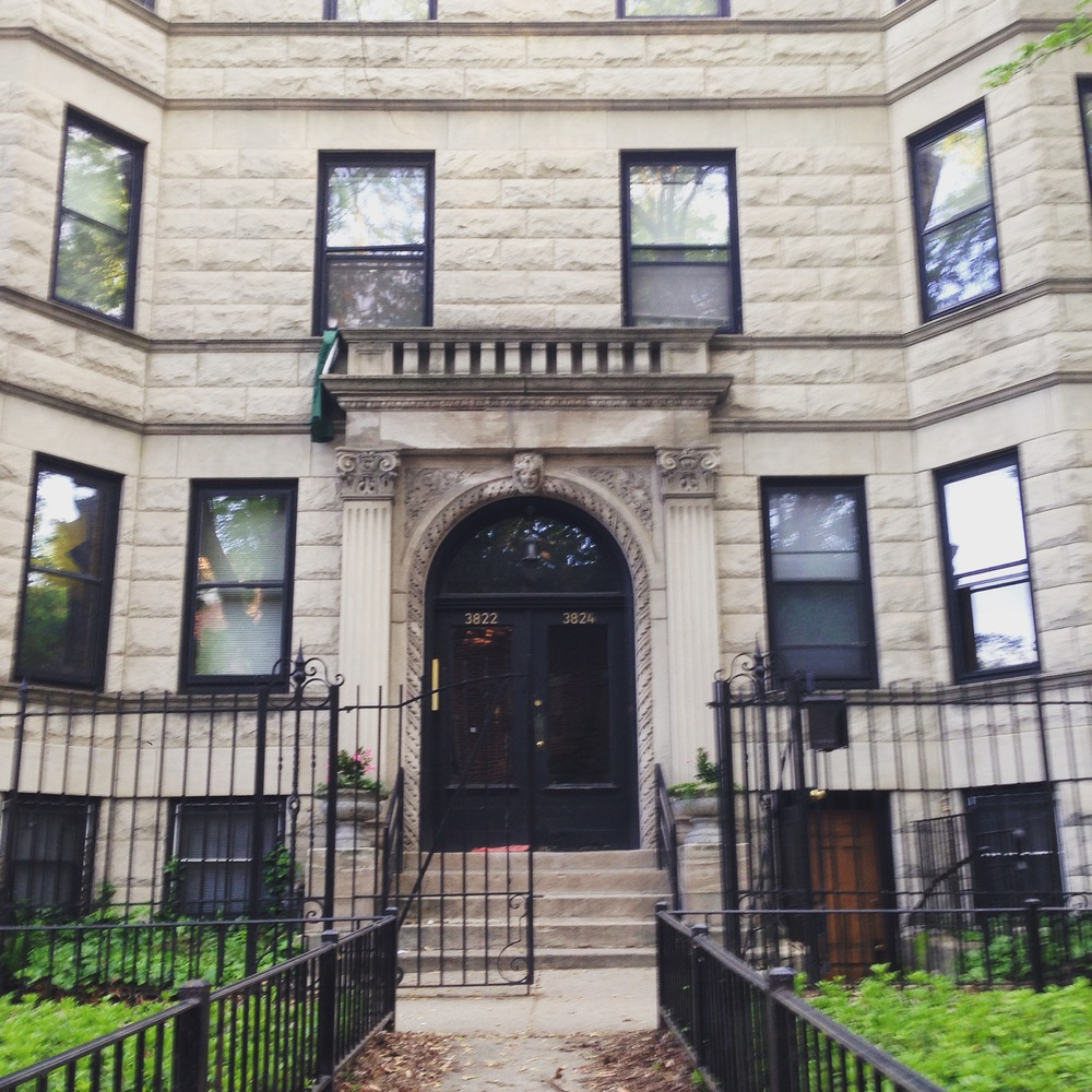 My apartment building. It's a beaut.