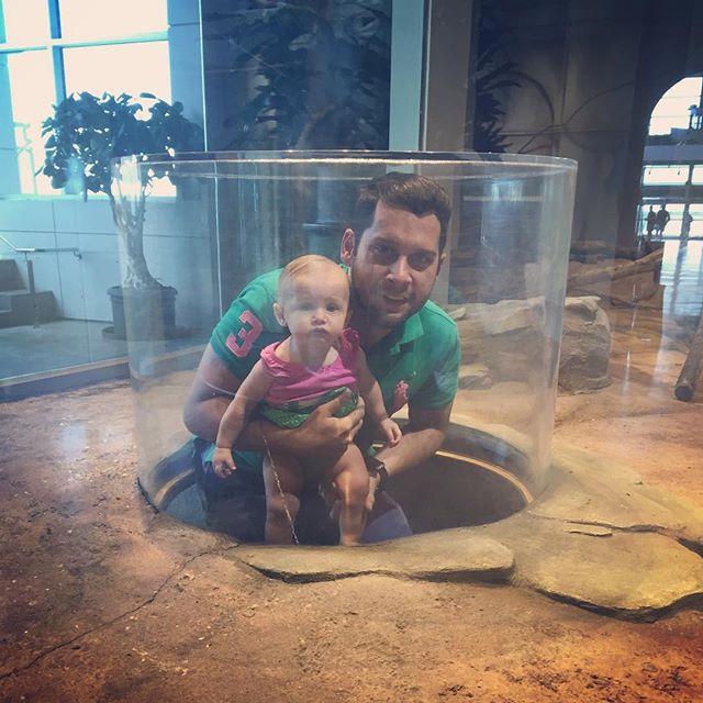 Claudia and Chris enjoying the Madagascar exhibit at the Aquarium #ilovemyfamily
