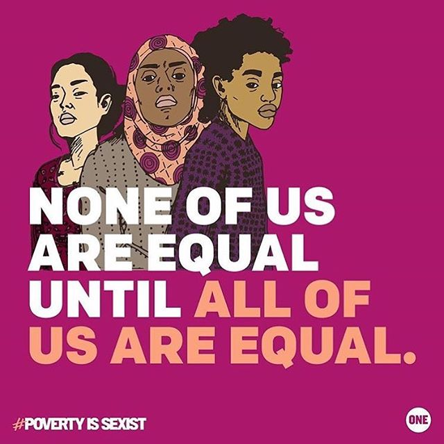 So so so proud of my amazing wife @_juliet_crossley_art_ for having her work featured in @onecampaign's new #povertyissexist movement. #internationalwomensday2018 Get out and get behind the movement!  #womensrightsarehumanrights