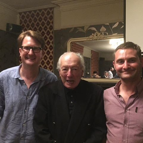 Director Robin Hardy with Nigel & Wayne at the Tufnell Park Film Club 23/06/15