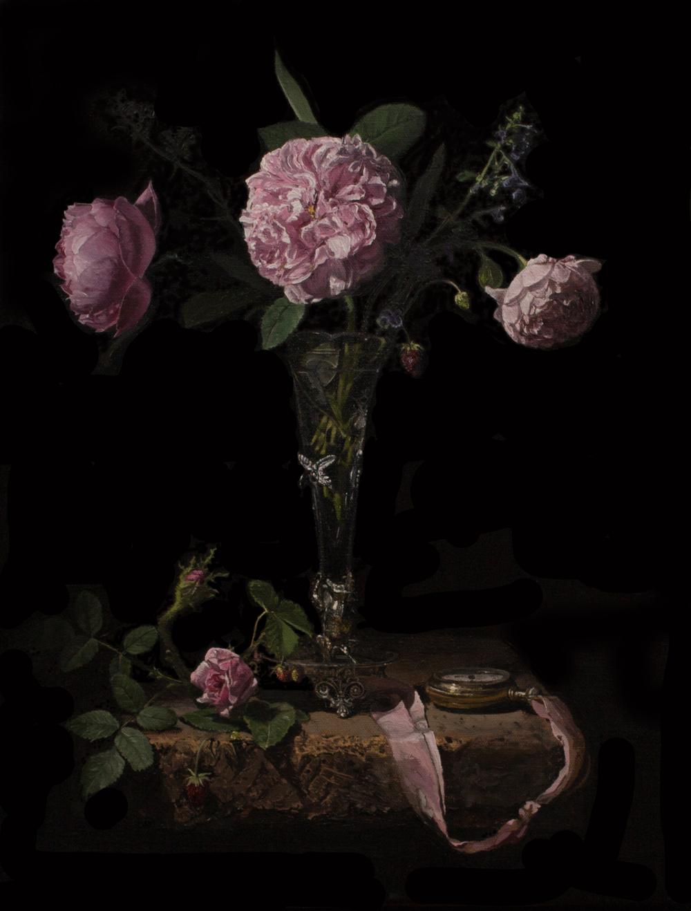 Moss Rose with Fraises des Bois