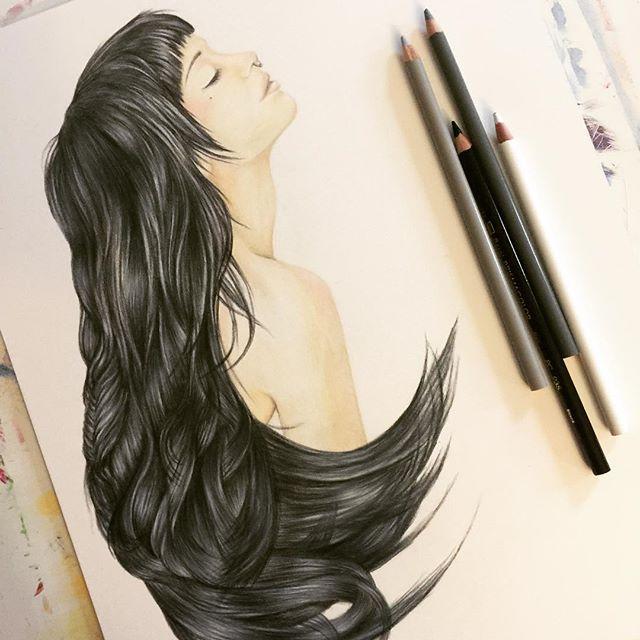 black hair colored pencil.jpg