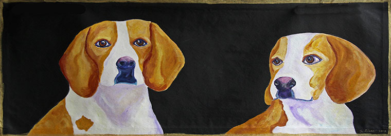 Beagles Runner Floor Cloth