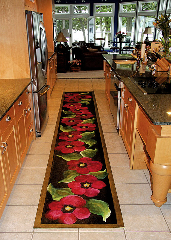 15 Foot Custom Runner in Kitchen