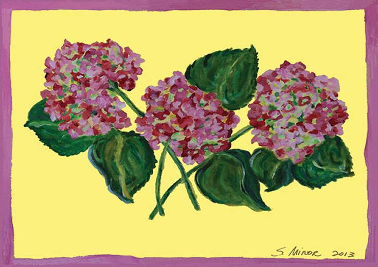 Pink Hydrangea Placemat