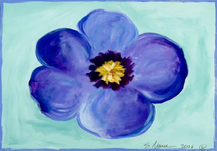 Blue Pansy Placemat