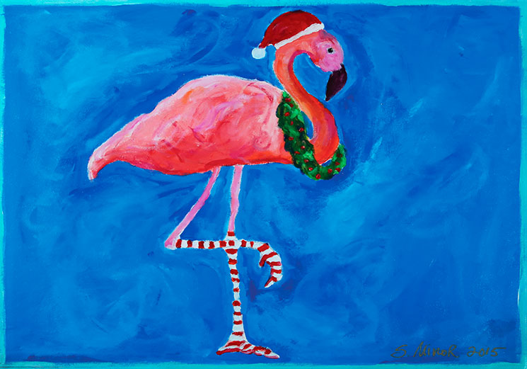 pink flamingo placemat