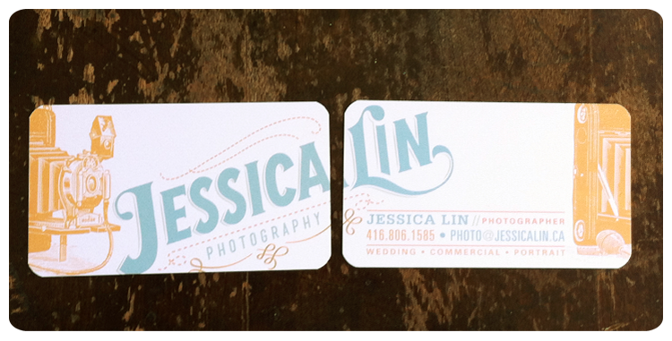 {awesome new business cards - front and back}