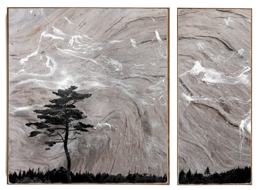 """Drifting Mist"", 51x38x1.5"", Giclée print on watercolour paper, mounted on stained birch panel, limited edition (of 10), $2990"