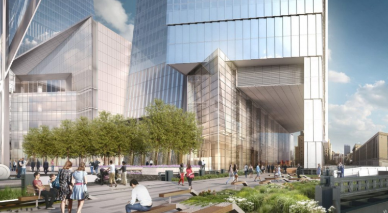 A rendering of 10 Hudson Yards in Manhattan, where José Andrés is opening a food hall. (Courtesy Related-Oxford)
