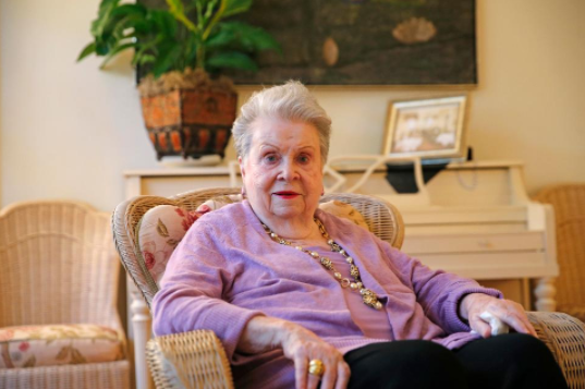 New Orleans restaurant matriarch Ella Brennan, 91, is the latest star of a food-centric documentary. (AP Photo/Gerald Herbert)