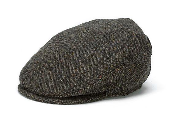 900ddde4 Vintage Salt-n-Pepper Tweed Cap from Hanna Hats of Donegal — Irish Moon