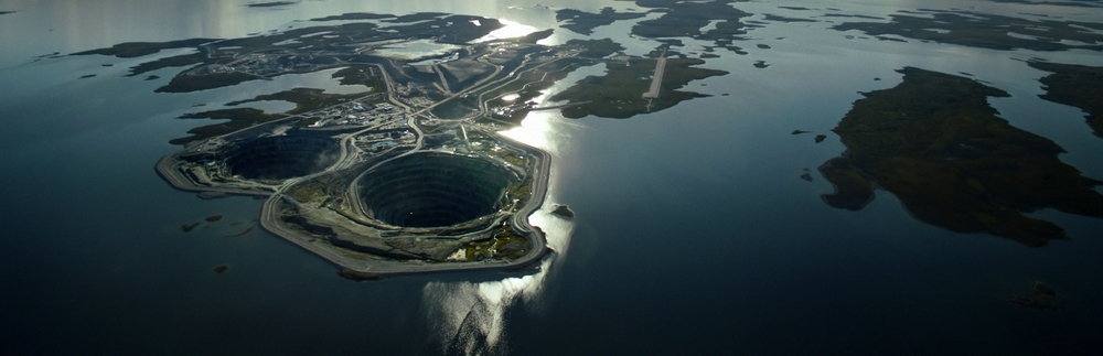 The Diavik Diamond Mine in the North Slave Region of the Northwest Territories, Canada/ The site where the majority of the groups soil samples were taken.