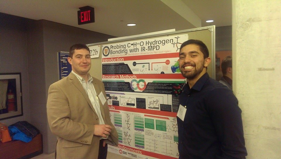 Dr. Hopkins and I infront of the poster I presented at the Symposium for Chemical Physics in 2013