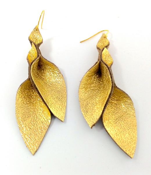 HakNik's Leather Origami Earring