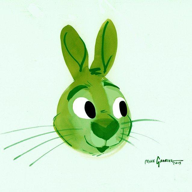 green rabbit coaster art (2).jpg
