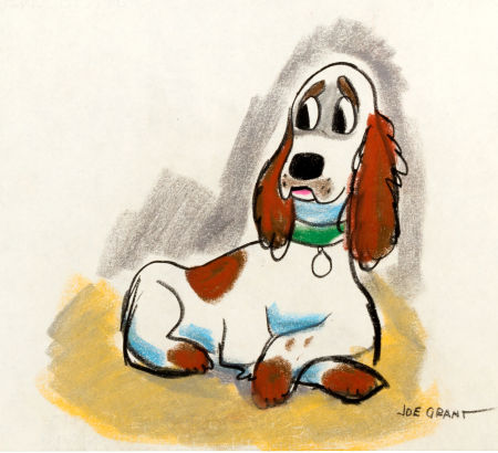 Lady and Tramp was an original idea of Joe's based on his and his wife's pet cocker spaniel named Lady.