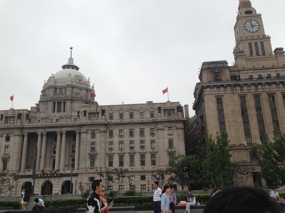 The Bund riverwalk.