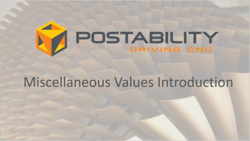 Videos: Misc Values — Postability   Mastercam Post Processors