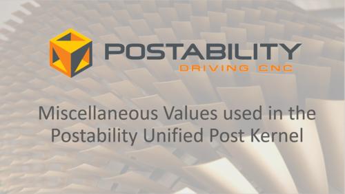 Videos: Misc Values — Postability | Mastercam Post Processors