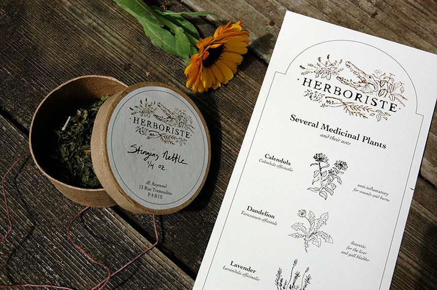 Herboriste Brochure by Liz Gill Neilson